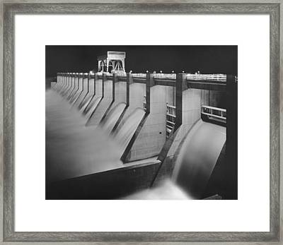 Chickamauga Dam, Built By The Tennessee Framed Print by Everett