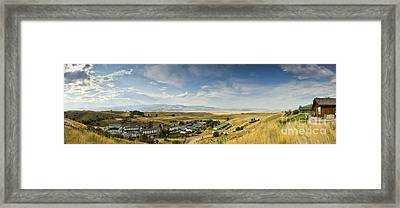 Chico Hot Springs Pray Montana Panoramic Framed Print by Dustin K Ryan