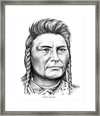 Chief Joseph Framed Print by Greg Joens