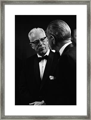 Chief Justice Earl Warren 1891-1974 Framed Print by Everett