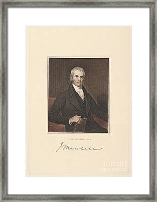 Chief Justice John Marshall Framed Print by Asher Brown Durand