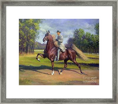 Chief Of Spindletop Framed Print by Jeanne Newton Schoborg
