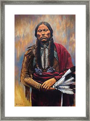 Chief Quanah Framed Print by Harvie Brown