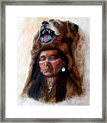 Chief Running Bear Framed Print by Amanda Hukill