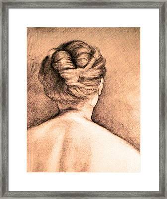 Chignon Framed Print by Karen Coggeshall