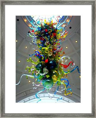 Chihuly Union Station Framed Print by Randall Weidner
