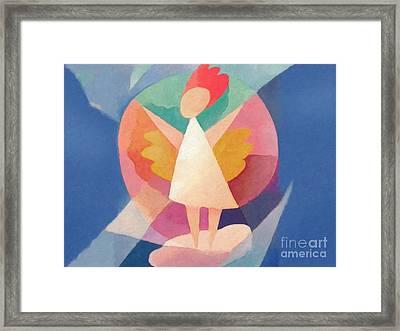 Child Angel Framed Print by Lutz Baar