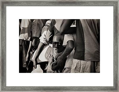 Child In Distress Framed Print by Mauricio Jimenez