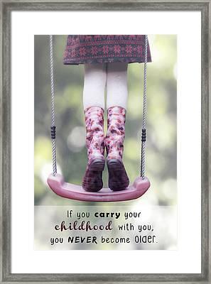 Childhood Framed Print by Joana Kruse