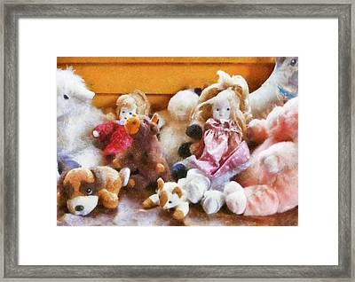 Children - Toys - Childhood Toys  Framed Print by Mike Savad