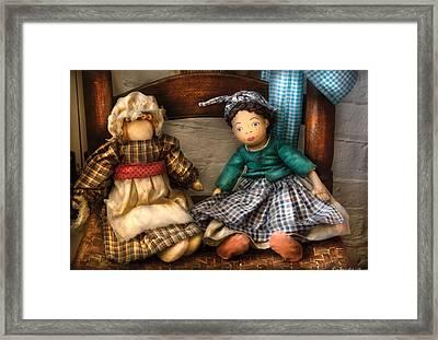 Children - Toys -  Dolls Americana  Framed Print by Mike Savad
