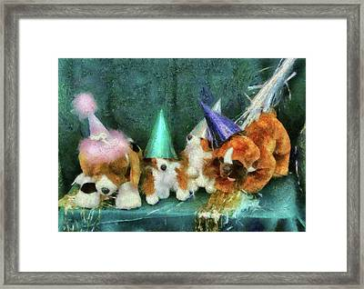 Children - Toys - Let's Get This Party Started Framed Print by Mike Savad
