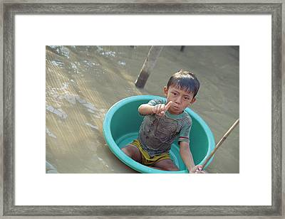 Children At Play Framed Print by Wendi Strauch Mahoney