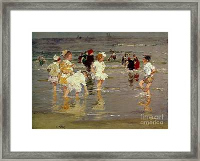 Children On The Beach Framed Print by Edward Henry Potthast