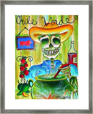 Chile Verde Framed Print by Heather Calderon