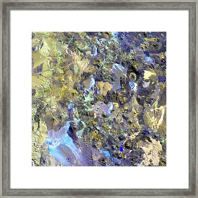 Chilean Volcanos Framed Print by Elaine Plesser