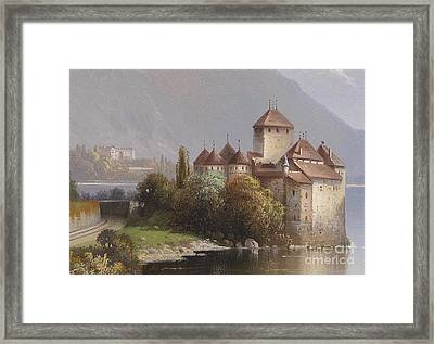 Chillon Castle Framed Print by MotionAge Designs