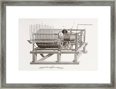Chime Works In The Clock Room Of St Framed Print by Vintage Design Pics