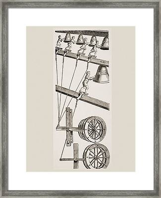 Chimes Of The Clock Of St. Lambert In Framed Print by Vintage Design Pics