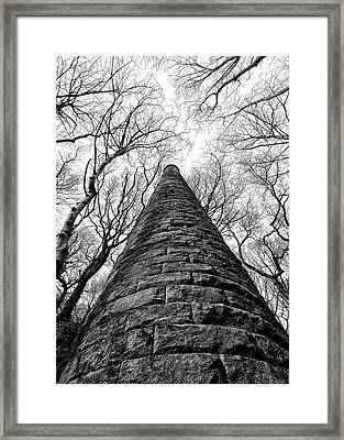 Chimney In Trees Framed Print by Philip Openshaw