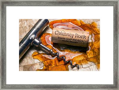Chimney Rock Uncorked Framed Print by Jon Neidert