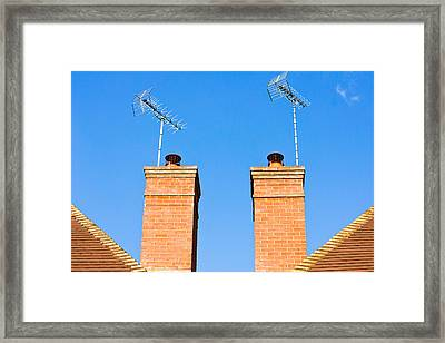 Chimneys Framed Print by Tom Gowanlock