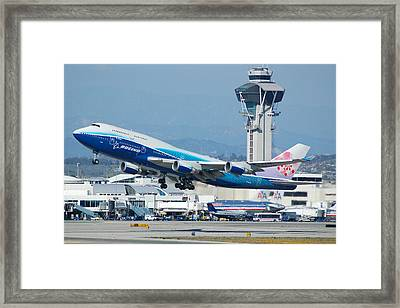 China Airlines Boeing 747 Dreamliner Lax Framed Print by Brian Lockett