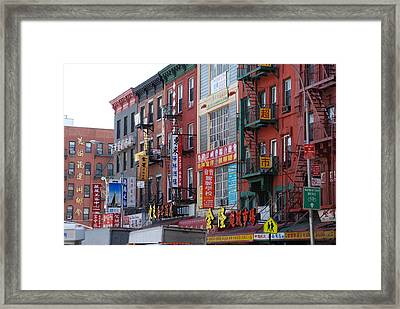 China Town Buildings Framed Print by Rob Hans