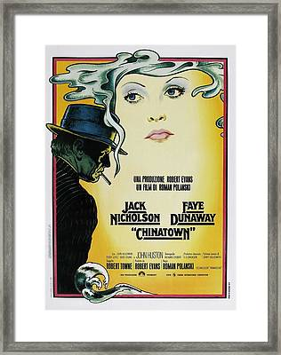 Chinatown Film Poster Framed Print by Georgia Fowler