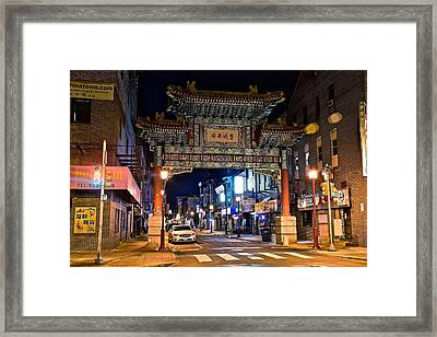 Chinatown In Philadelphia Framed Print by Frozen in Time Fine Art Photography