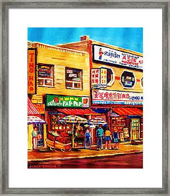 Chinatown Markets Framed Print by Carole Spandau