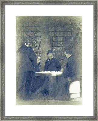 Chinese Chess Players Framed Print by Loriental Photography