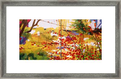 Chinese Garden Grace Framed Print by Melody Cleary