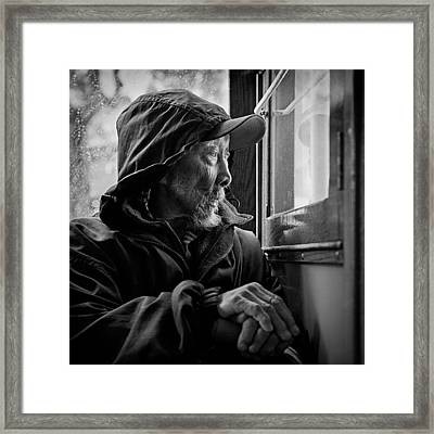 Chinese Man Framed Print by Dave Bowman