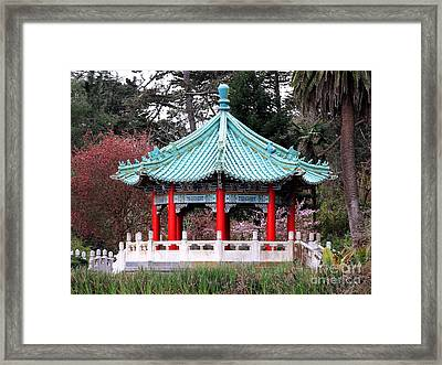 Chinese Pavilion Framed Print by Wingsdomain Art and Photography