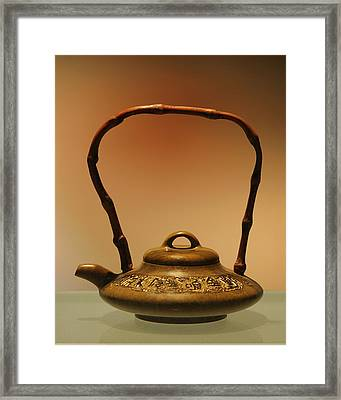 Chinese Teapot - A Symbol In Itself Framed Print by Christine Till