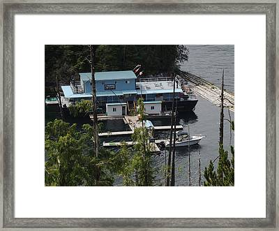 Chinootka Lodge Close-up Framed Print by Nootka Sound
