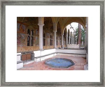 Chiostro Santa Chiara- Naples, Italy Framed Print by Italian Art