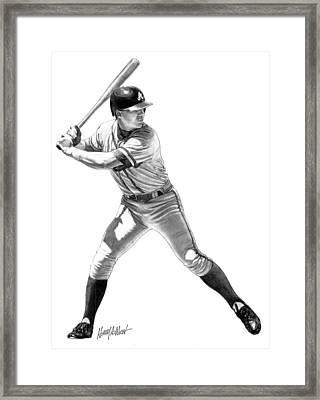 Chipper Jones Framed Print by Harry West