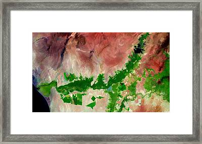 Chira River Peru Framed Print by Elaine Plesser
