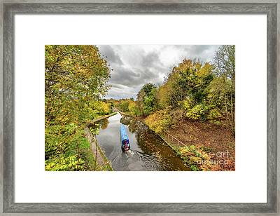 Chirk Aqueduct Autumn Framed Print by Adrian Evans