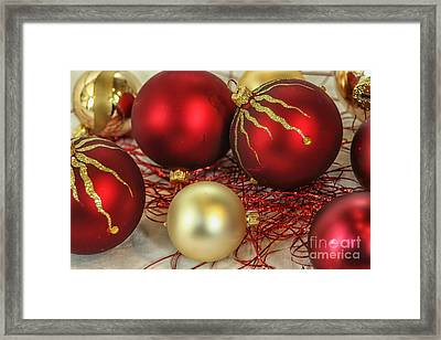 Chirstmas Ornaments Framed Print by Patricia Hofmeester