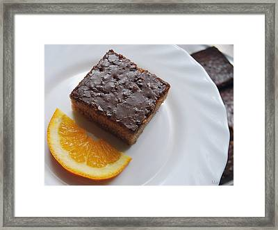 Chocolate And Orange Framed Print by Marija Djedovic