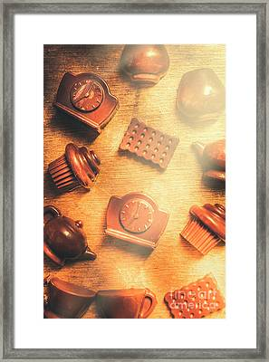 Chocolate Cafe Background Framed Print by Jorgo Photography - Wall Art Gallery