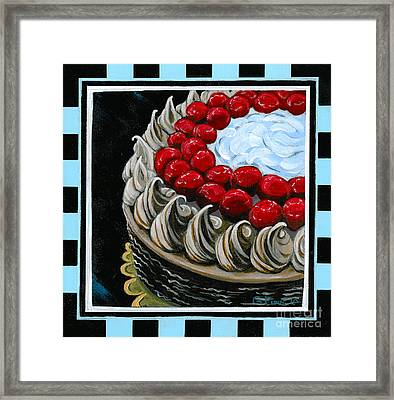 Chocolate Cake With A Cherry On Top Framed Print by Gail Finn
