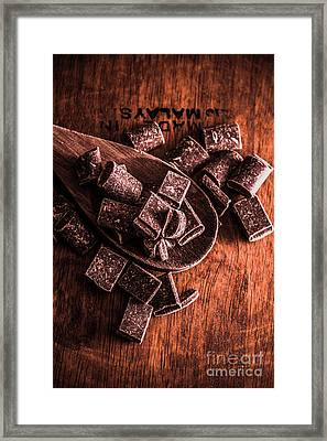 Chocolate Kitchen Artwork Framed Print by Jorgo Photography - Wall Art Gallery