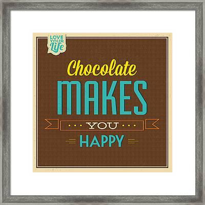 Chocolate Framed Print by Naxart Studio