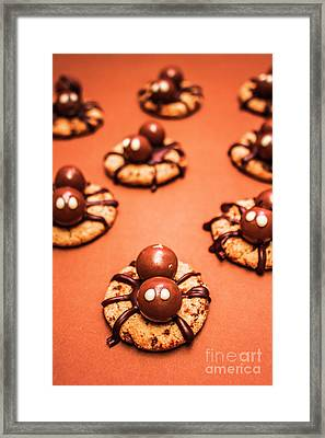 Chocolate Peanut Butter Spider Cookies Framed Print by Jorgo Photography - Wall Art Gallery