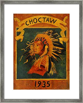 Choctaw 1935 Framed Print by Bill Cannon