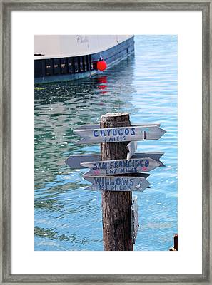 Choices Framed Print by Art Block Collections